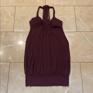 Purple mini bubble dress xs